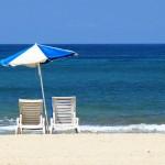 Suntanning on the beach